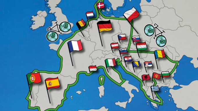 Tanguy Davy : le défi d'un tour d'Europe écolo à vélo
